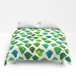 Green gemstone pattern. Comforters