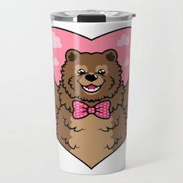 Valentines Bear Travel Mug