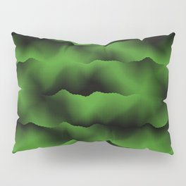 Emerald Green Waves Pillow Sham