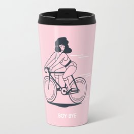 Bike Gang Girl (Boy Bye) - Pink Travel Mug
