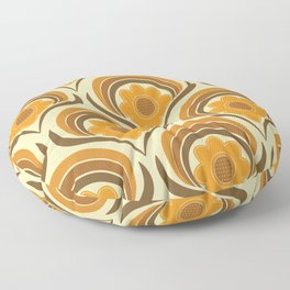 Orange  Daisy Dream Floor Pillow