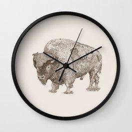 Grandpa Bison  Wall Clock
