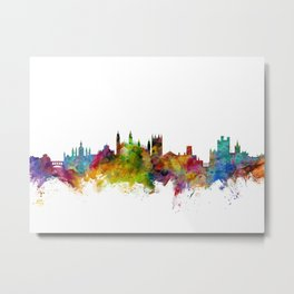 Cambridge England Skyline Metal Print