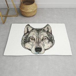 Wolf Mask Rug