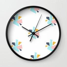 Pastel Print Wall Clock