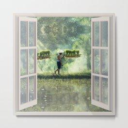 Cambodia Life | OPEN WINDOW ART Metal Print