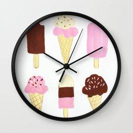 Ice Cream Treats Wall Clock