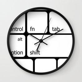 Keyboard Commands Wall Clock
