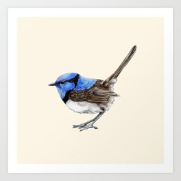 Little Wren, Natural Art Print