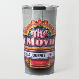 Original Art Photograph Great Movie Ride Neon Marquee Sign GMR Travel Mug