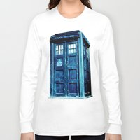tardis Long Sleeve T-shirts featuring TARDIS by Hands in the Sky