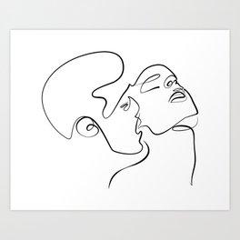 Sensual Kiss Art Print