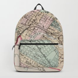 Vintage Map of Wilmington Delaware (1884) Backpack