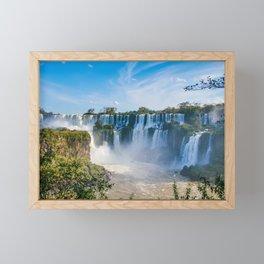 Iguazu Falls Panorama Art Print Framed Mini Art Print