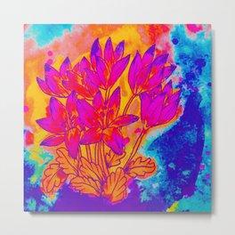 Colchicum Flower Painting Metal Print