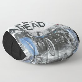 Rock is not dead Floor Pillow