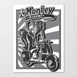 Monkey Riders Canvas Print