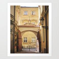 Golden Afternoons in Prague Art Print