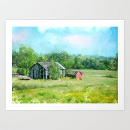 Ohio Barn Art Print