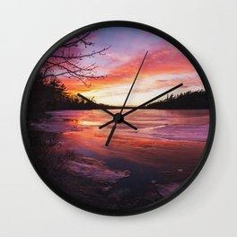 Intense Palette Wall Clock