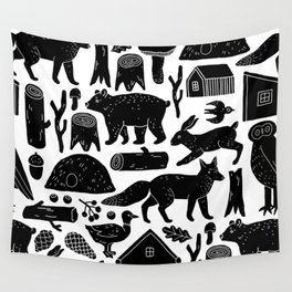 Forest Critters Wall Tapestry