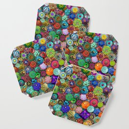 Glass Buttons Coaster