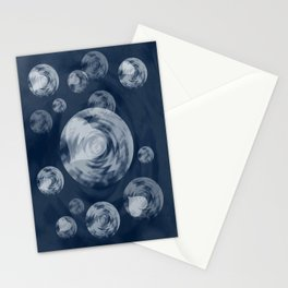 RAINING MIDNIGHT HEARTS  Stationery Cards