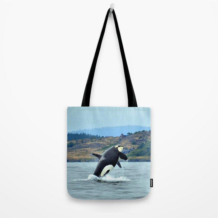 Orca Breach Tote Bag