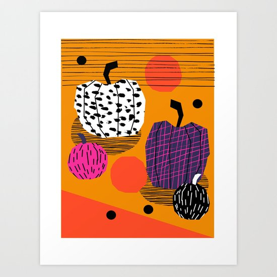 Yar - pumpkin halloween fall autumn throwback retro style fashion urban trendy 1980s 1980 80s 80's  Art Print