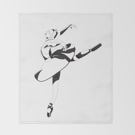 Ballerina Throw Blanket