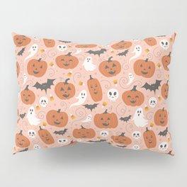 Pumpkin Party on Blush Pink Pillow Sham