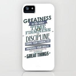 Nine Noble Virtues - Discipline iPhone Case