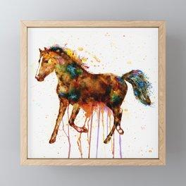 Watercolor Horse Framed Mini Art Print