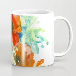 Red Poppies, Red flowers, French Country Coffee Mug