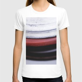 Abstract Coils In Red And White T-shirt