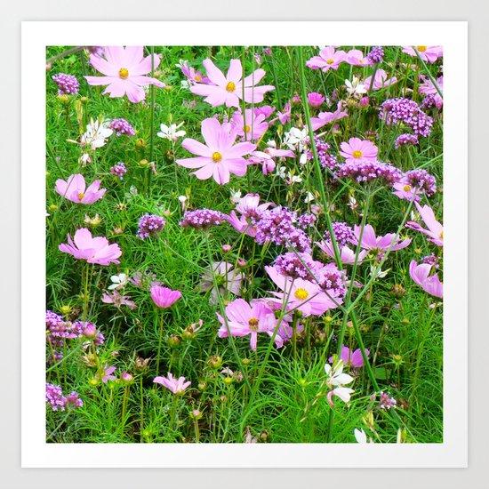 lovely garden Flowers 03 Art Print