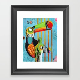 """""""It's a Zoo Out There"""" Framed Art Print"""
