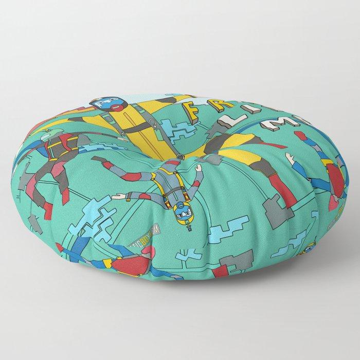 Skydive in the sky Floor Pillow