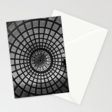 Tiffany Glass Dome Black/White Photography Stationery Cards