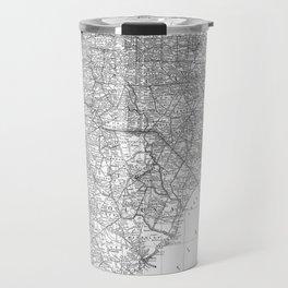 Vintage Map of The Carolinas (1891) BW Travel Mug