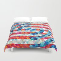 america Duvet Covers featuring Abstract America by Fimbis