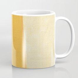 Yellow White Coffee Mug
