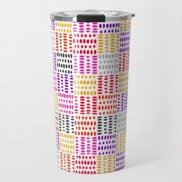 bright pattern of pink, yelow and purpe no 4 Travel Mug