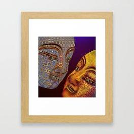 two buddhas Framed Art Print