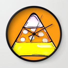 Candy Corn - Orange Wall Clock