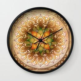Mandala Leaf Rosette V1 Wall Clock