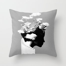 It's a cloudy day Throw Pillow