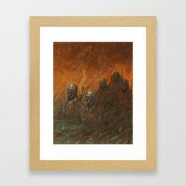 Men at War Framed Art Print