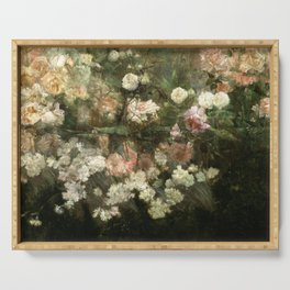 Vintage Rose Painting Serving Tray