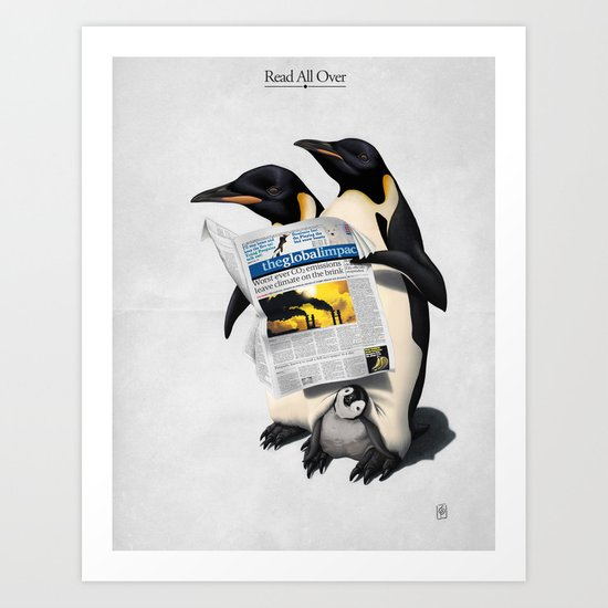 Read All Over Art Print